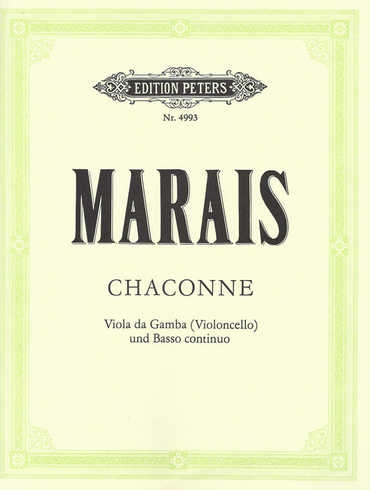 Marais: Chaconne for Viola da Gamba and Basso Continuo