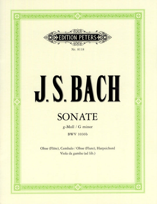 Bach: Sonata in G Minor BWV 1030b for Oboe and Harpsichord