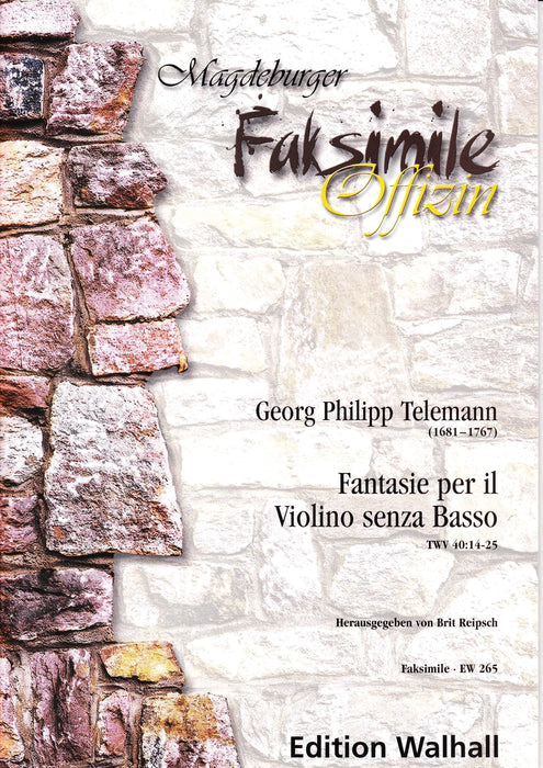 Telemann: Fantasias for Violin Without Bass