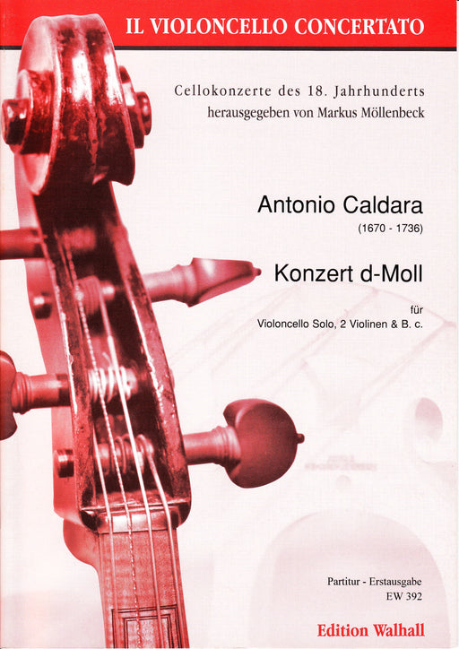 Caldara: Concerto in D Minor for Violoncello, Strings and Basso Continuo - Score