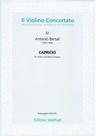 Bertali: Capricio for Violin and Basso Continuo