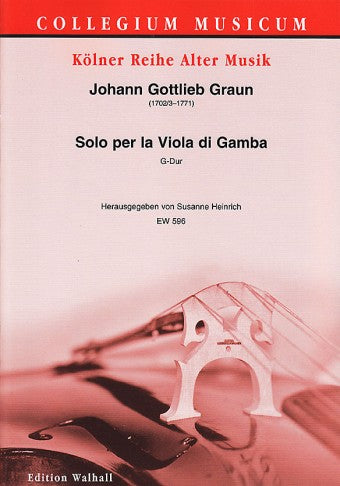 Graun: Solo for Viola da Gamba in G Major
