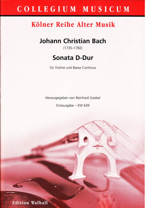 J. C. Bach: Sonata in D Major for Violin and Basso Continuo