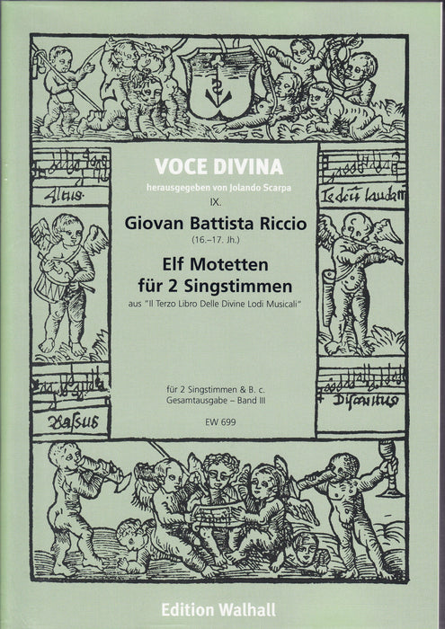 Riccio: 11 Motets for 2 Voices and Basso Continuo