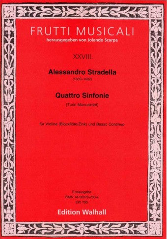 Stradella: 4 Sinfonias for Violin and Basso Continuo (Turin Manuscript)