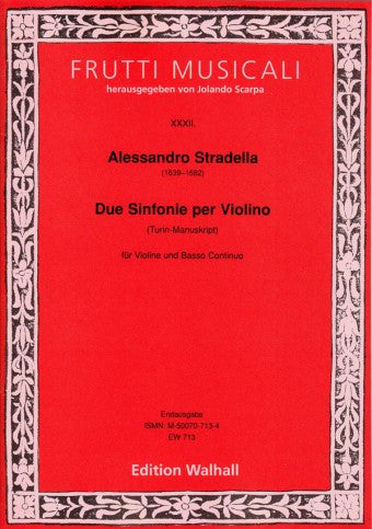 Stradella: 2 Sinfonias for Violin and Basso Continuo