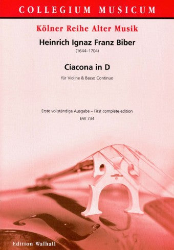 Biber: Ciacona in D Major for Violin and Basso Continuo