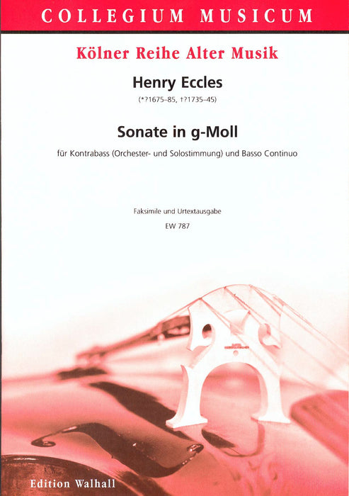 Eccles: Sonata in G Minor for Double Bass and Basso Continuo