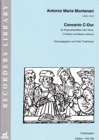 Montanari: Concerto in C Major for Soprano Recorder, Strings and Basso Continuo - Piano Reduction