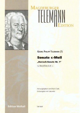"Telemann: Sonata in C Minor ""Harrach Sonata No. 1"" for Treble Recorder and Basso Continuo"