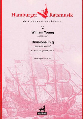 "Young: Divisions in G Minor sopra ""La Monica"" for Viola da Gamba and Basso Continuo"