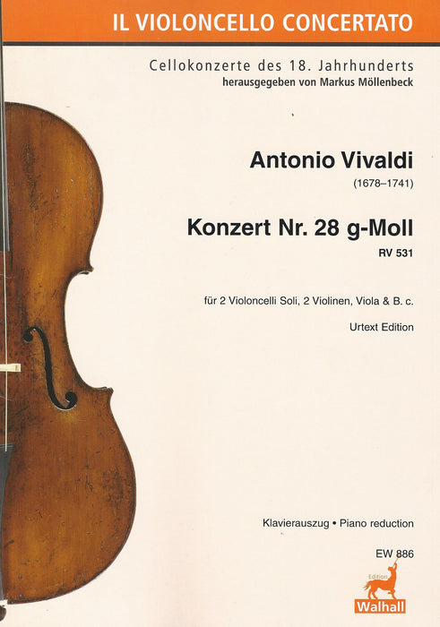 Vivaldi: Concerto No. 28 in G Minor RV531 for 2 Violoncelli Soli, Strings and Basso Continuo