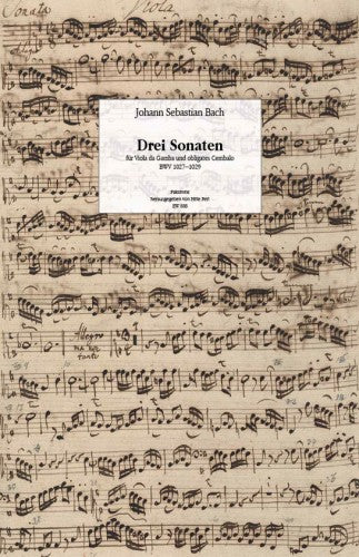 J. S. Bach: 3 Sonatas for Viola da Gamba and Harpsichord Obbligato