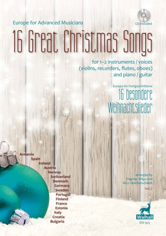 Various: 16 Great Christmas Songs for 1-2 Voices or Instruments and Piano or Guitar