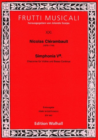 Clérambault: Chaconne from Simphonia Va for Violin and Basso Continuo