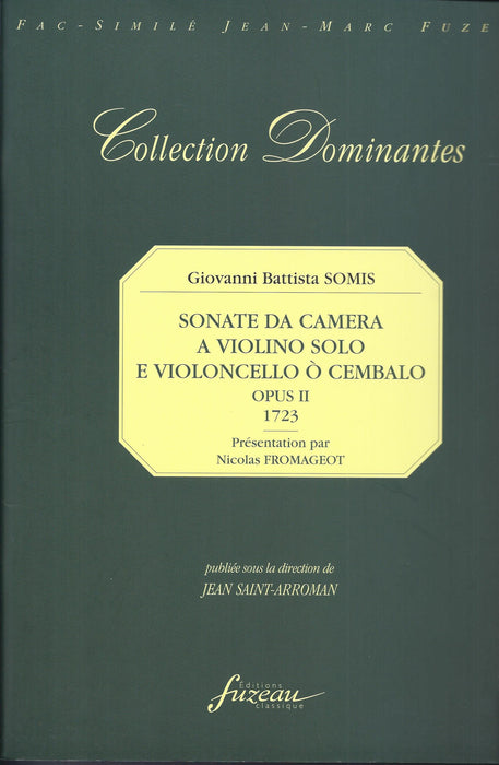 Somis: Sonate da Camera for Violin and Basso Continuo, Op. 2 (1723)