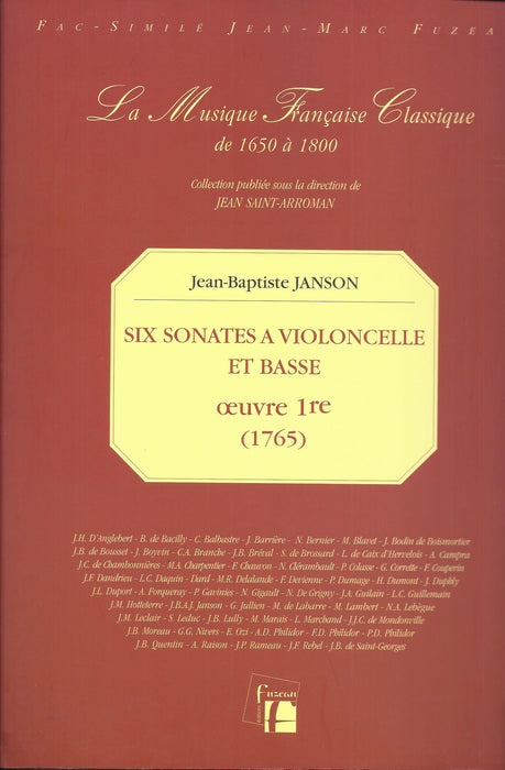 Janson: 6 Sonatas for Violoncello and Basso Continuo, Op. 1