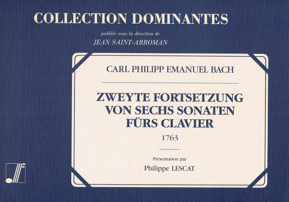 C. P. E. Bach: Second Volume of Six Sonatas (1763)