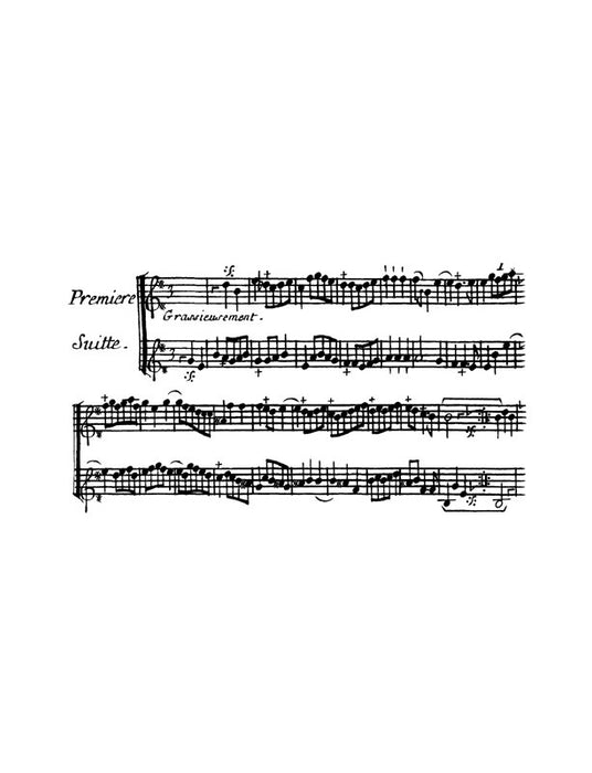 Aubert: Pieces for 2 Flutes or Violins (1723)
