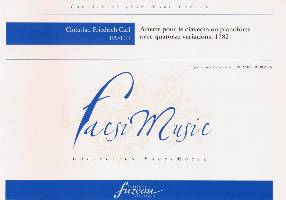 Fasch: Ariette with 14 Variations for Harpsichord or Piano (1782)