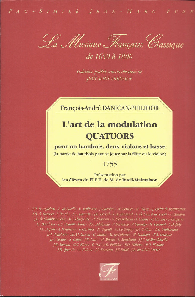 Danican-Philidor: L'art de la modulation - Quartets for Oboe, 2 Violins and Basso Continuo (1755)
