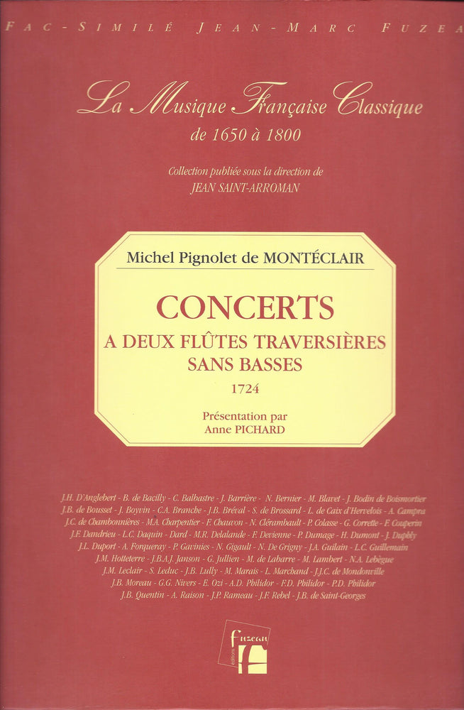 Monteclair: Concerts for 2 Flutes without Bass (1724)