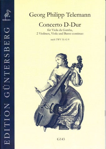 Telemann: Concerto in D Major for Viola da Gamba, Strings and Basso Continuo
