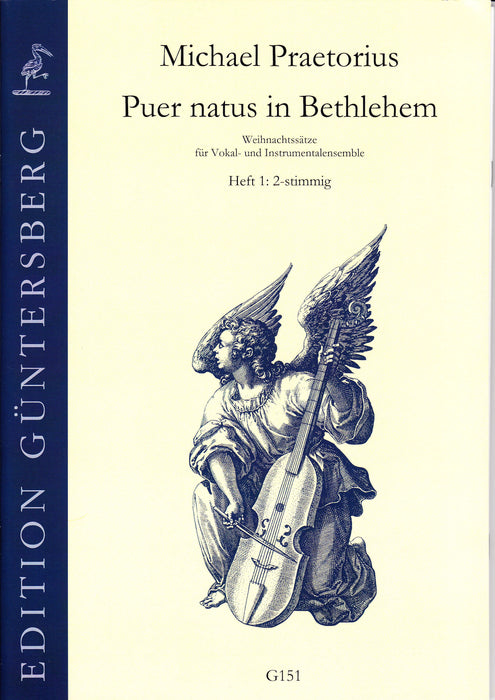 Praetorius: Puer Natus in Bethlehem, Vol. 1 for 2 Voices or Instruments