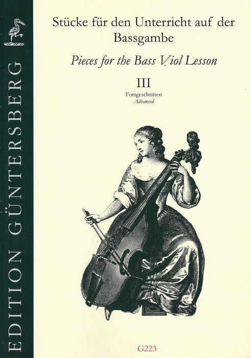 Various: Pieces for the Bass Viol Lesson, Book III - Avanced