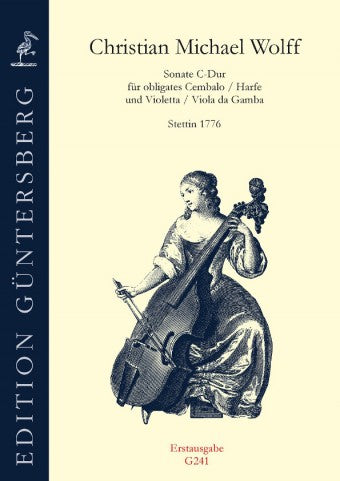 Wolff: Sonata in C Major for Obbligato Harpsichord and Violetta or Viola da Gamba