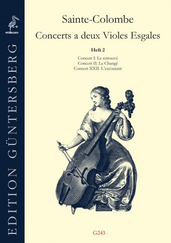Sainte-Colombe: Concerts for 2 Bass Viols, Vol. 2