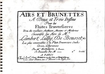 Various: Airs and Brunettes for 2 or 3 Flutes