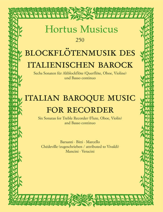 Various: Italian Baroque Music for Recorder
