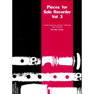 Turner (ed.): Pieces for Solo Recorder, Vol. 3
