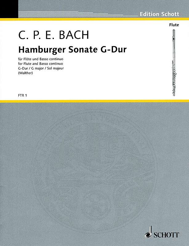 C.P.E. Bach: Hamburger Sonata in G Major for Flute and Basso Continuo