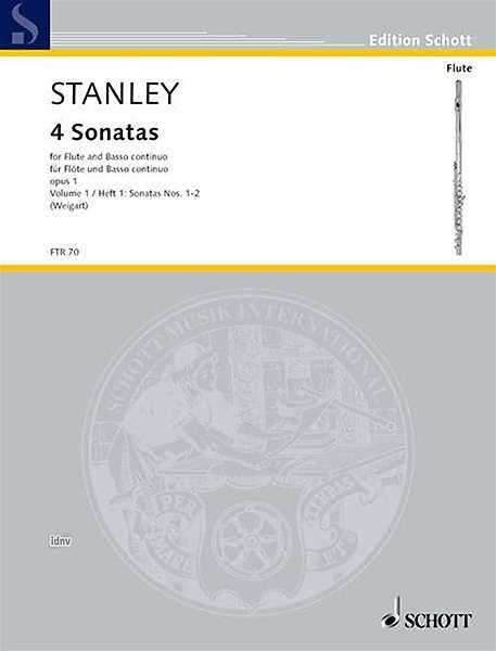 Stanley: 4 Sonatas for Flute and Basso Continuo, Vol. 1