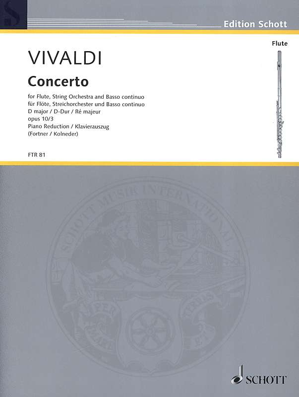 Vivaldi: Concerto in D Major for Flute, Strings and Basso Continuo - Piano Reduction