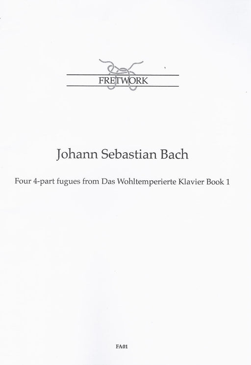 Bach: 4 Fugues from Das Wohltemperierte Klavier Book 1 arranged for 4 Viols