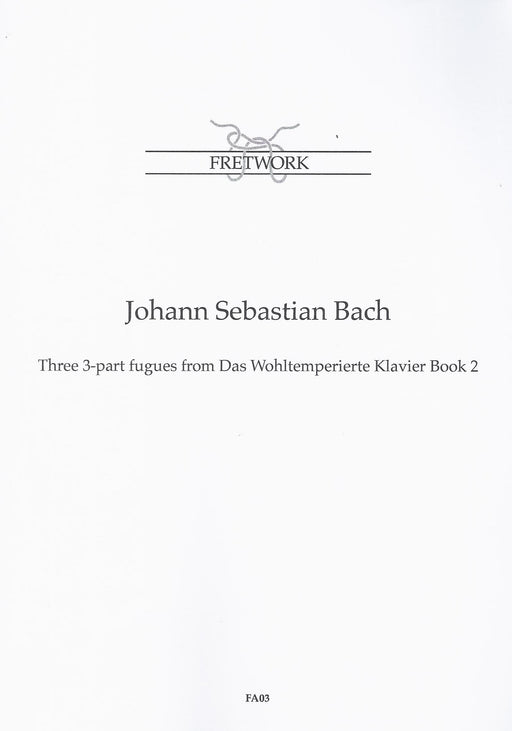 Bach: Three 3-Part Fugues from Das Wohltemperierte Klavier Book 2 for 3 Viols
