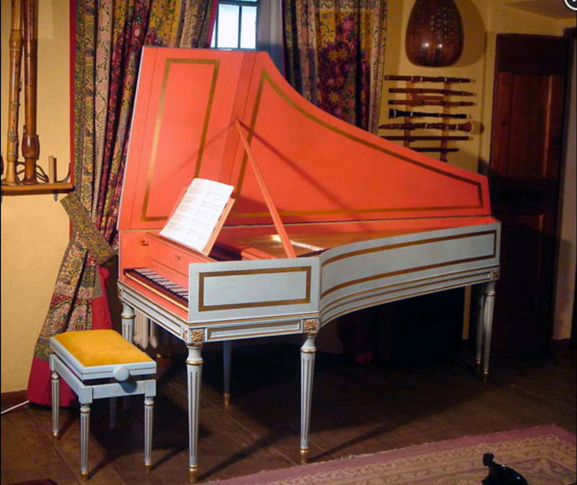 Bizzi French Single Manual Blanchet with 2x8' stops and Louis XV Stand