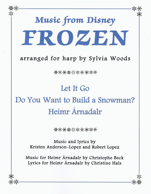 Woods (arr.): Music from Disney's Frozen arranged for Harp