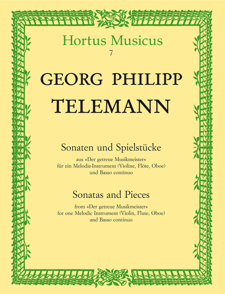 "Telemann: Sonatas and Pieces from ""Der getreue Musikmeister"" for Melodic Instrument and Basso Continuo"
