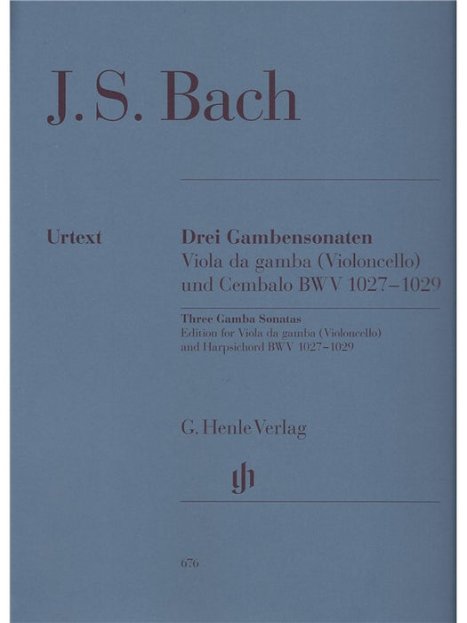 Bach: 3 Sonatas for Viola da Gamba and Harpsichord