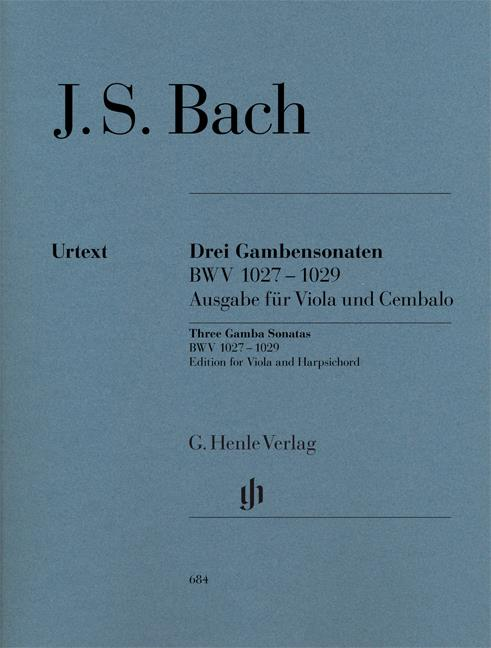 Bach: 3 Gamba Sonatas arranged for Viola and Harpsichord