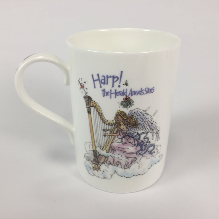 """Harp The Herald Angels Sing"" - China Mug"
