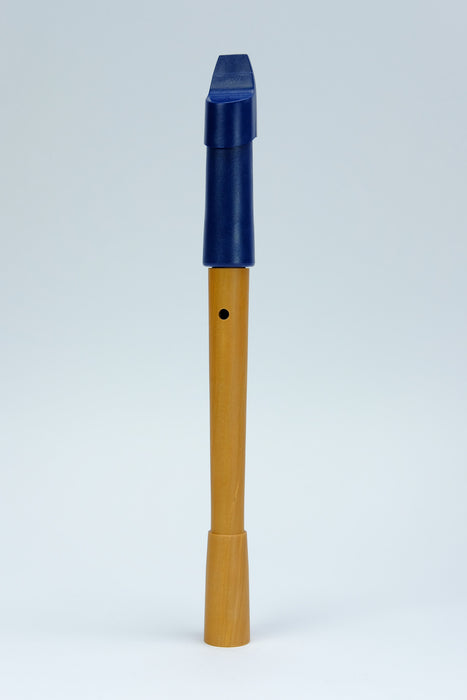 Mollenhauer Prima Soprano Recorder in Blue Plastic and Pearwood