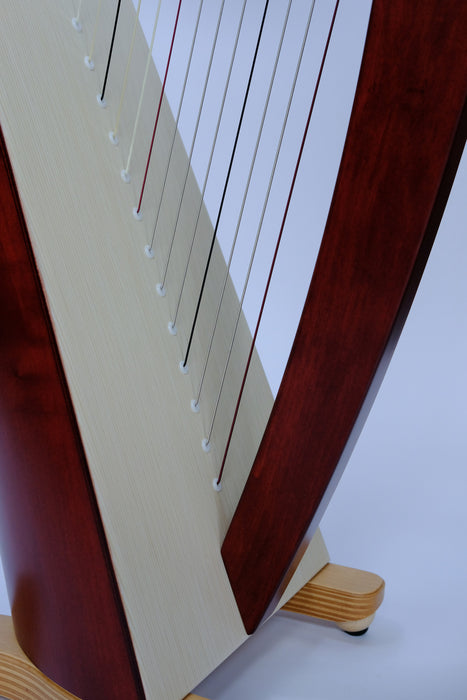 Mia 34 string harp (Gut strings) in mahogany finish by Salvi
