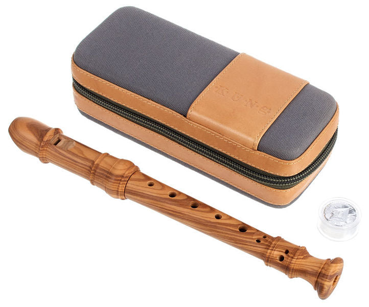 Kung Superio Sopranino Recorder in Olivewood