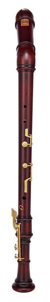 Kung Superio Bass Recorder in Stained Pearwood