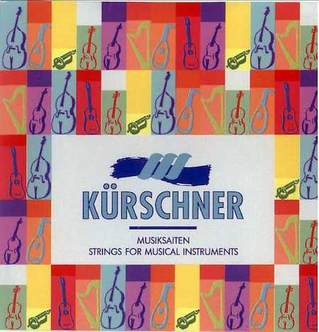 Kurschner Treble Viol 6th/D Wound Gut String